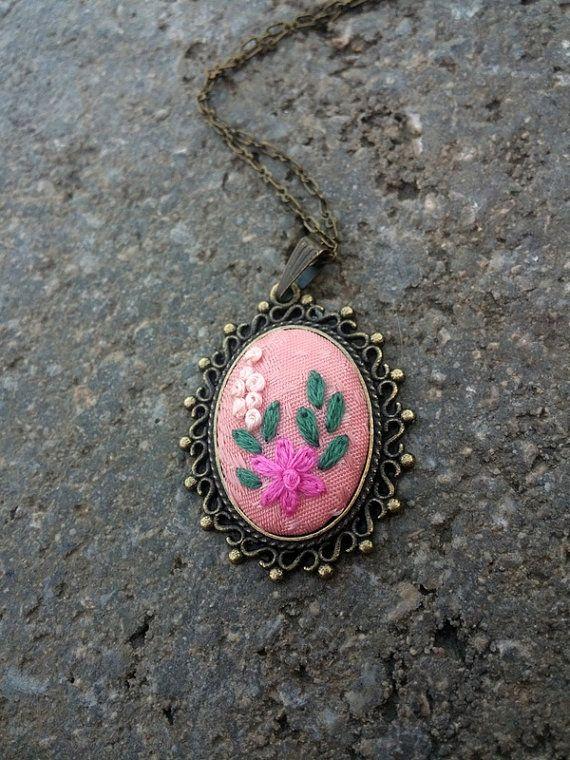 Вышитый цветок ожерелье, ювелирные изделия bridesmaid Бохо, Богемный цыганский колье, длинное ожерелье ювелирные изделия подарки под 50