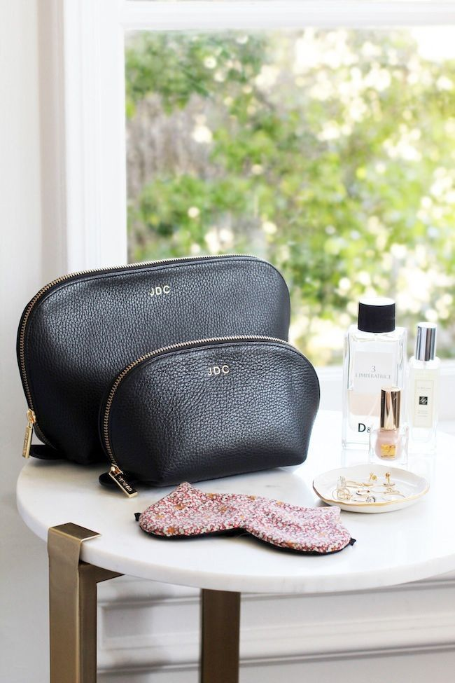 Must-Have: The Monogrammed Makeup Bag by Cuyana