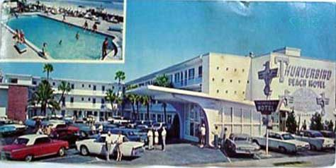 The Thunderbird Motel in Daytona Beach, Florida.