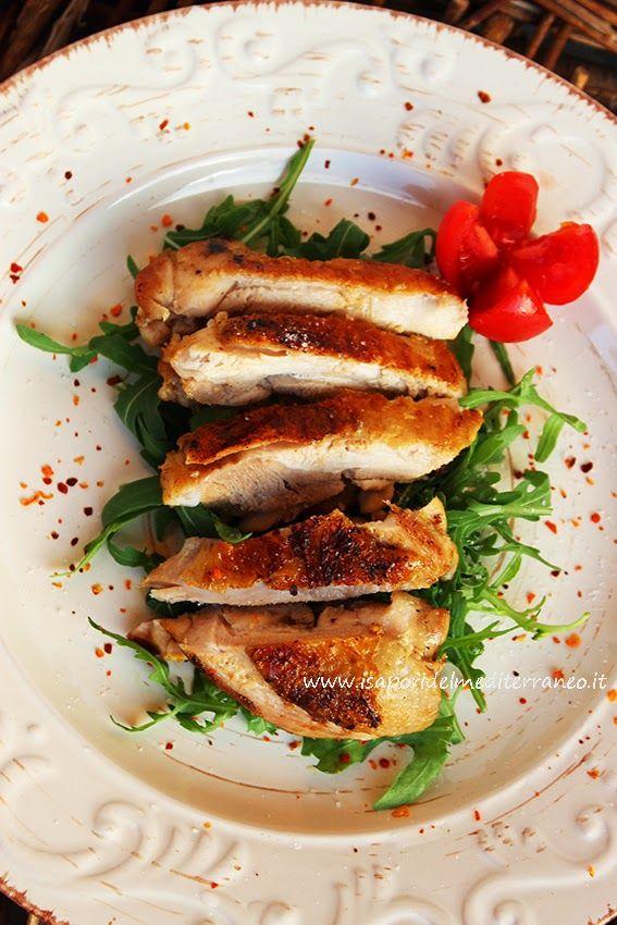 i sapori del mediterraneo: Tagliata di pollo cotto su pietra lavica