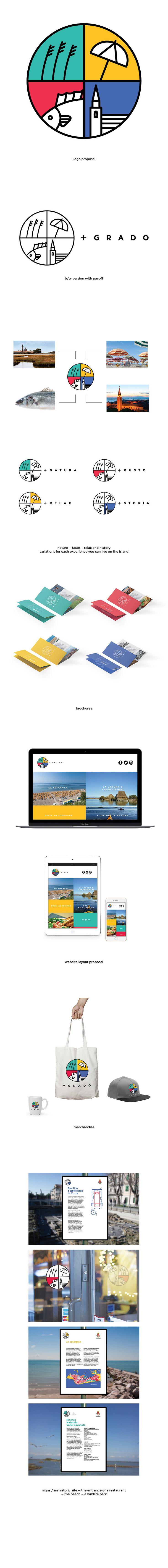 Vedi il mio progetto @Behance: \u201cGrado - rebranding\u201d https://www.behance.net/gallery/52543119/Grado-rebranding