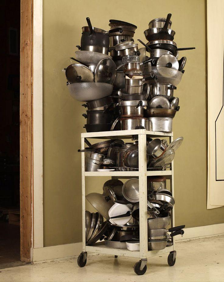 ROBERT THERRIEN No title (pots and pans cart), 1999–2008