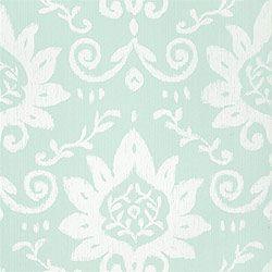 "Thibaut Serendipity - Bridgewater Damask - Fabric - Aqua.   22""X22"" down/feather throw pillows custom (our upholsterer) $120.00 each."