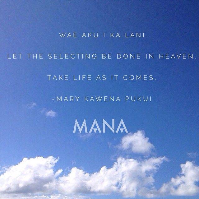 Hawaiian proverb manamagazine's photo on Instagram