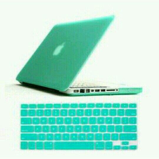 Turquoise apple lap top
