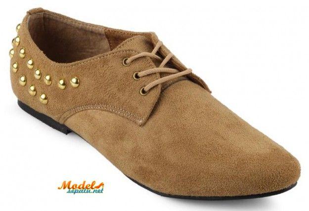 Sepatu Oxford Wanita Indah Almond Toe | Model Sepatu