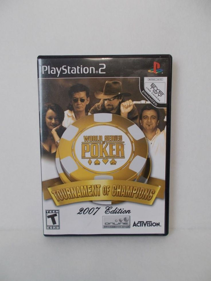 World Series Of Poker Tournament Of Champions 2007 PlayStation 2 Game PS2