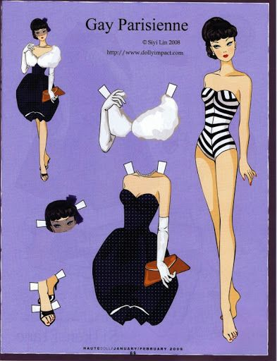 (¯`'•.ೋ… Robert Best- Fashion Designer for Barbie.............barbie gay parisienne paper doll