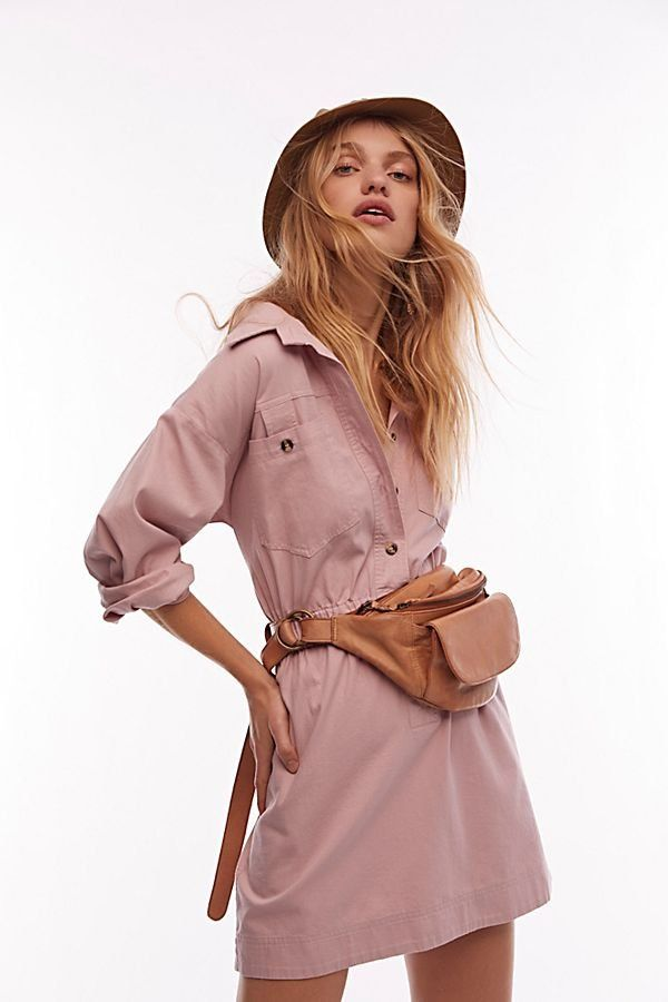 49cbfe5af817 Hazel Shirt Dress - Pink Long Sleeve Shirt Dress - Pullover Pink Shirt Dress  - Pink Long Sleeve Dress - Light Pink Shirt Dress - Cargo Shirt Dress -  Cargo ...