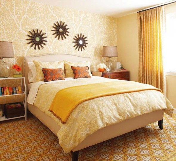 Interior Design Bedroom Colours Ceiling Design Of Bedroom Comfortable Bedroom Chairs Images Of Bedroom Decor: 183 Best Orange Coral Yellow Bedroom Images On Pinterest