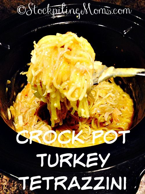 Crock Pot Turkey Tetrazzini is a must have dish after Thanksgiving. It is a great recipe to use your left over turkey in. We love having this amazing delicious turkey recipe the day after Thanksgiving on Black Friday.