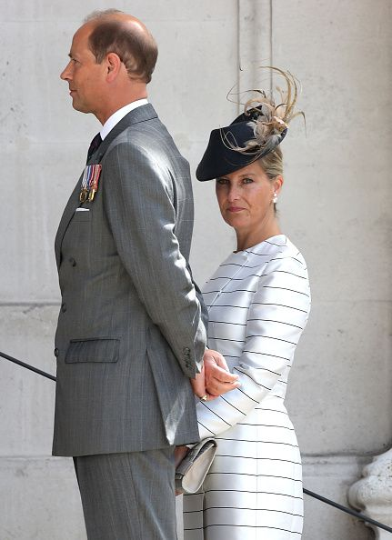 Prince Edward, Earl of Wessex and Sophie, Countess of Wessex attend the 70th anniversary of VJ Day Service of Commemoration at St Martin-in-the-Fields on August 15, 2015 in London, England