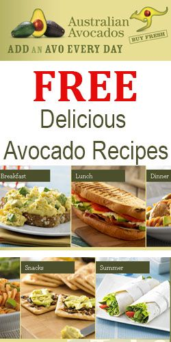 Free recipes on the Australian Avocados website #avocadoes