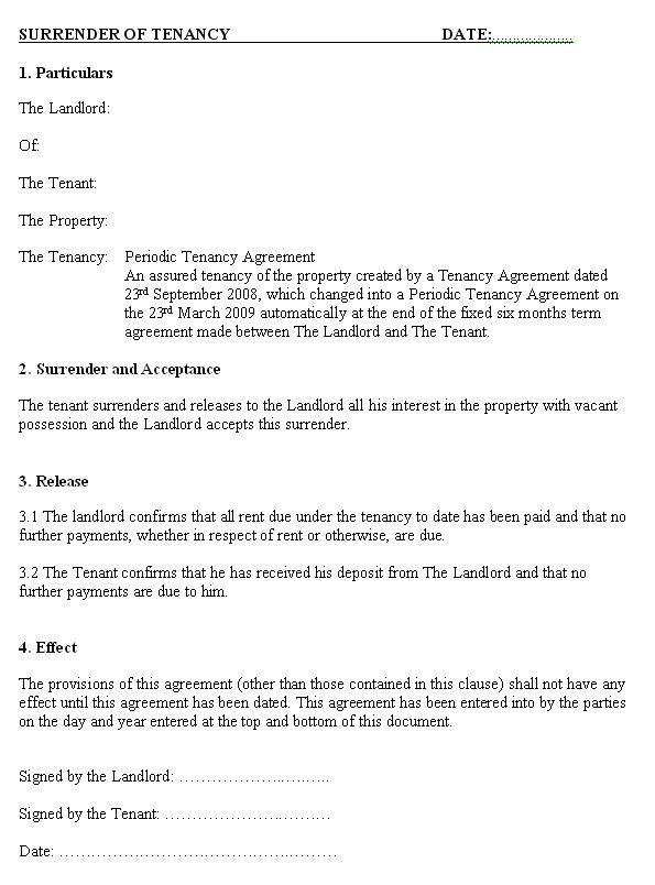 surrender of tenancy letter dalia pinterest blog and letters. Black Bedroom Furniture Sets. Home Design Ideas