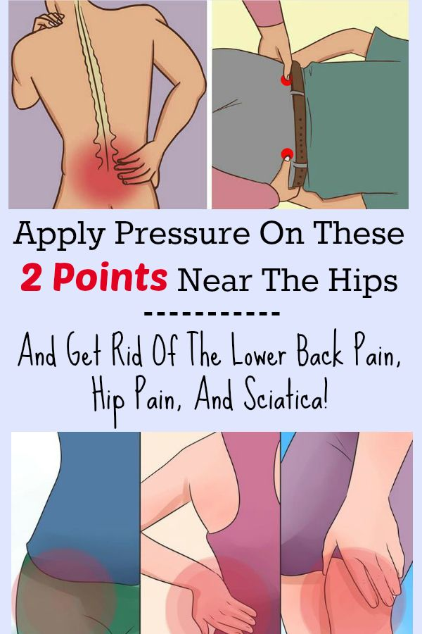 Apply Pressure On These 2 Points Near The Hips And Get Rid Of The Lower Back Pain, Leg Pain, Hip Pain, And Sciatica!