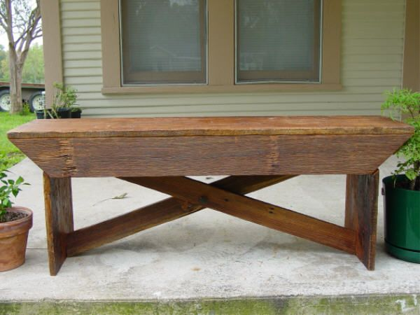 Old barnwood bench - want my hunny to build me one of these from our old barn out back