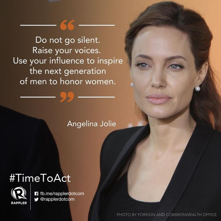 Angelina Jolie speaks up on the issue of Sexual Violence in Conflict.