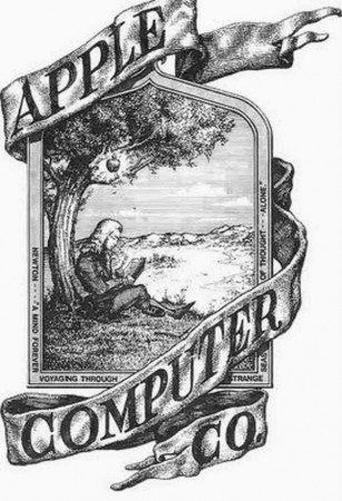 Apples original logo featured Isaac Newton
