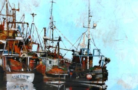 Malcolm-Cheape-7309-Fishing-boats-tied-up.jpg (448×292)