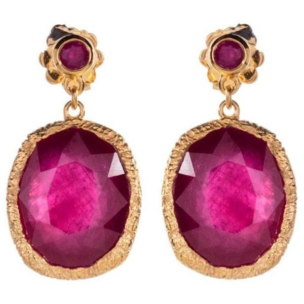 Preowned Jade Jagger Maiden Ruby Doublet Earrings ($1,411) ❤ liked on Polyvore featuring jewelry, earrings, green, jade jagger jewelry, pre owned jewelry, green jewelry, ruby earrings and preowned jewelry