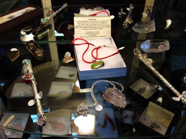 magic wands ammolite and kunzite pendants