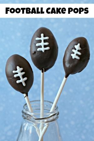 Football Cake Pops | Game Day Food!