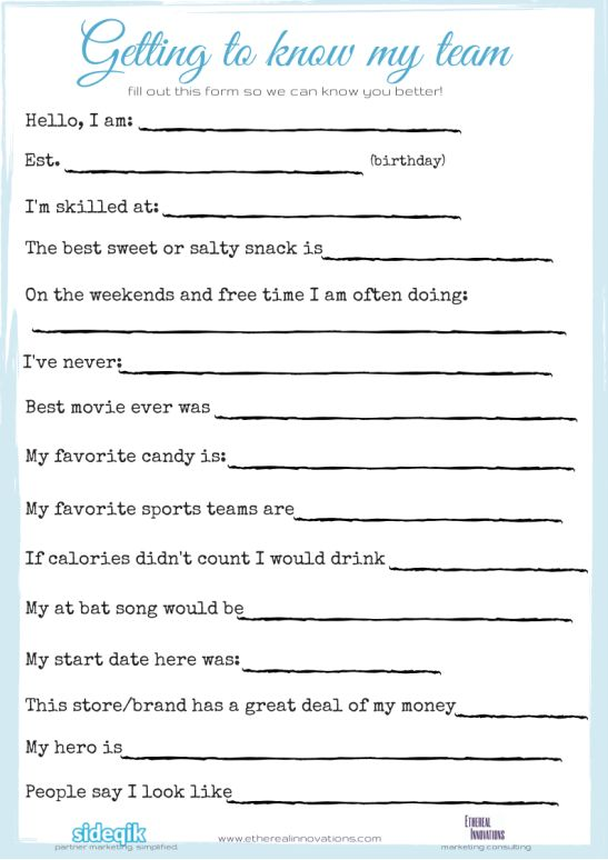 free printable for getting to know your office coworkers | employee engagement | gift and bonus ideas | Encourage office | team | work culture |