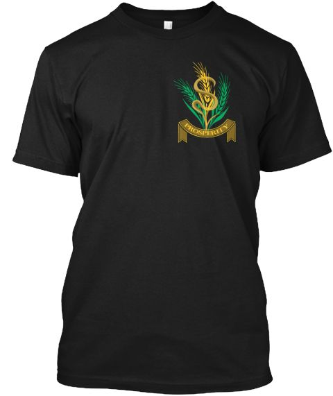Prosperity Black T-Shirt Front
