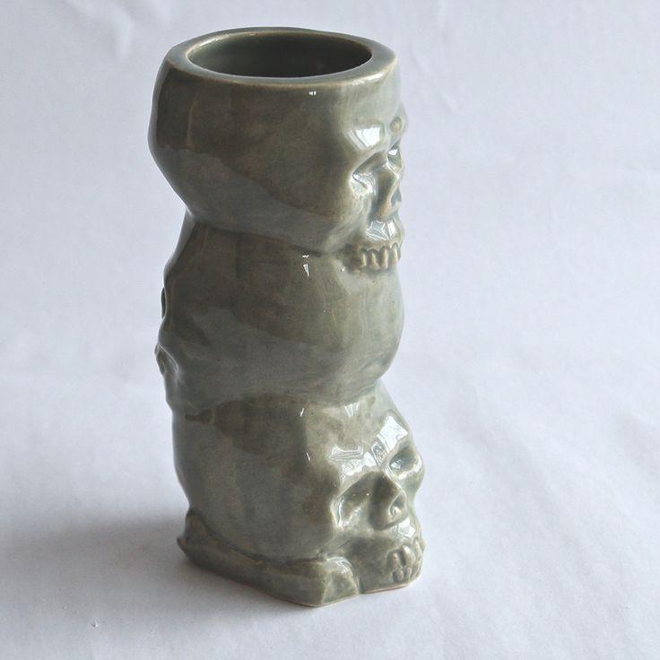 """Czaszki"" tiki mug. ""Skull""- tiki mugs. Hand-made. 400ml. by Benusha - ceramika"