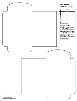 27 free printable recipe card sets seed packets template and envelopes. Black Bedroom Furniture Sets. Home Design Ideas