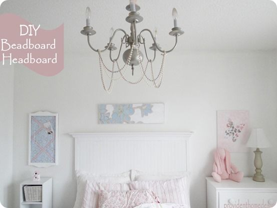 Easy Bead Board Wallpaper Headboard