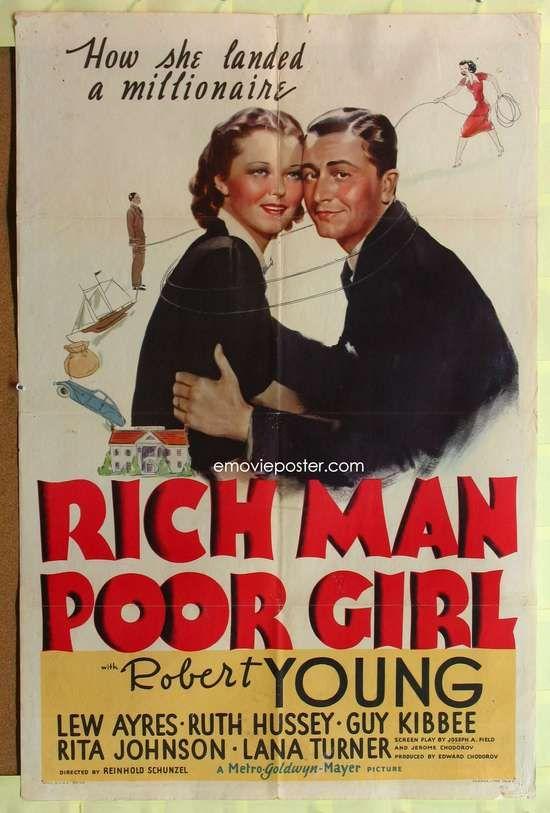 RICH MAN, POOR GIRL (1938) Robert Young, Ruth Hussey