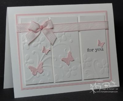 CAS170 Beautiful Butterflies by stampercamper - Cards and Paper Crafts at Splitcoaststampers