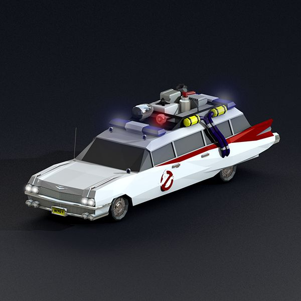 Low Poly Ghostbusters render