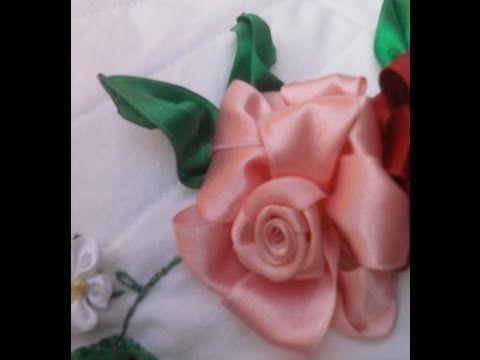 Flores de Cetim/ Rosa - Parte 1 Passo a Passo - YouTube