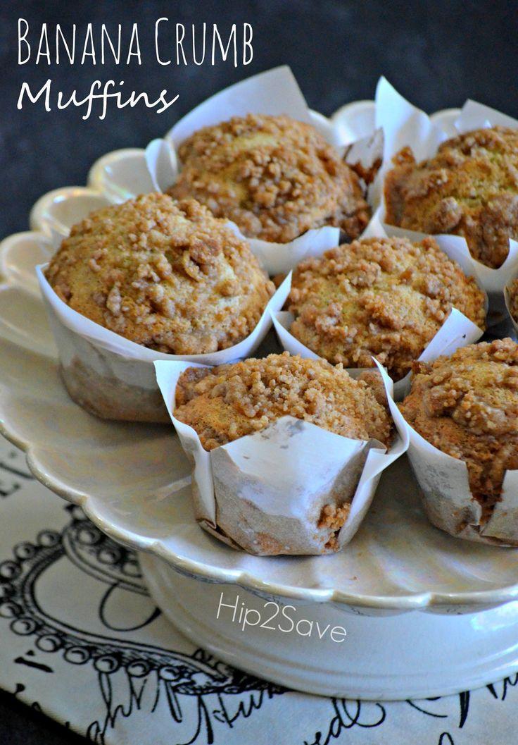 Banana Crumb Muffins Recipe by Hip2Save.com