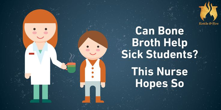 Learn how a Georgia school nurse is using bone broth to comfort sick students in her school.