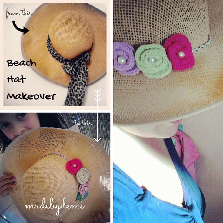 beach hat makeover!