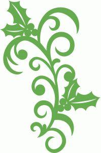 Silhouette Design Store - View Design #70157: holly flourish