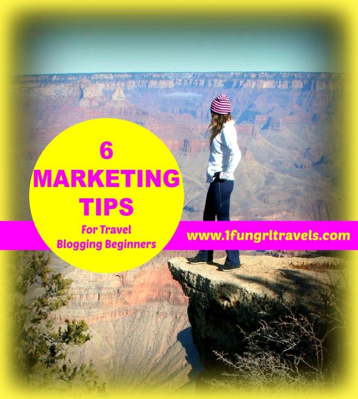 6 marketing tips for travel blog beginners! (great for any new blogger though) #travel #blog #tip #marketing