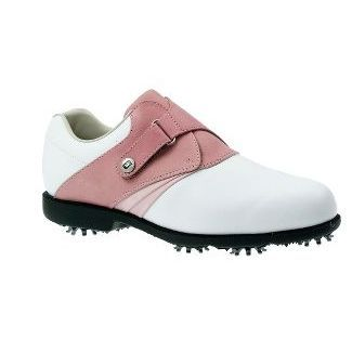 Footjoy WOMENS AQL GOLF SHOES (WHITE/PINK) 6.5 FOOTJOY WOMENS AQL GOLF SHOES The FootJoy AQL Golf Shoes are a performance waterproof mid-range golf shoe offering traditional modern and youthful styling and feature a new lightweight moulded EVA http://www.comparestoreprices.co.uk/golf-shoes/footjoy-womens-aql-golf-shoes-white-pink-6-5.asp