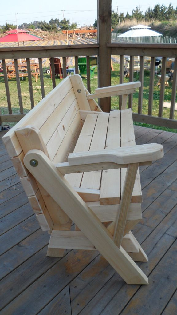 Folding Bench Picnic Table Combo Wood Projects Pinterest M Photos Picnics And Photos