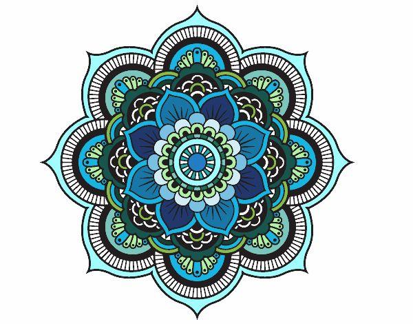 Mandala flor oriental pintado e colorido por Usuário não registrado o dia 28 de Abril do 2015 às 04 horas e 14 minutos no Colorir.com. Entra e pinta o teu próprio desenho de Mandala flor oriental on-line totalmente grátis.