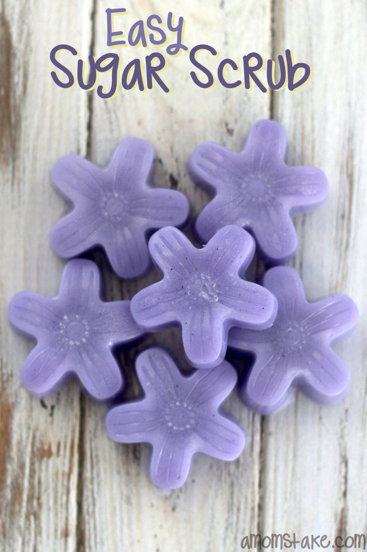 Cute and easy Mothers day gift - Easy sugar scrub flowers - add lavender oil for a relaxing bath. by #amomstake