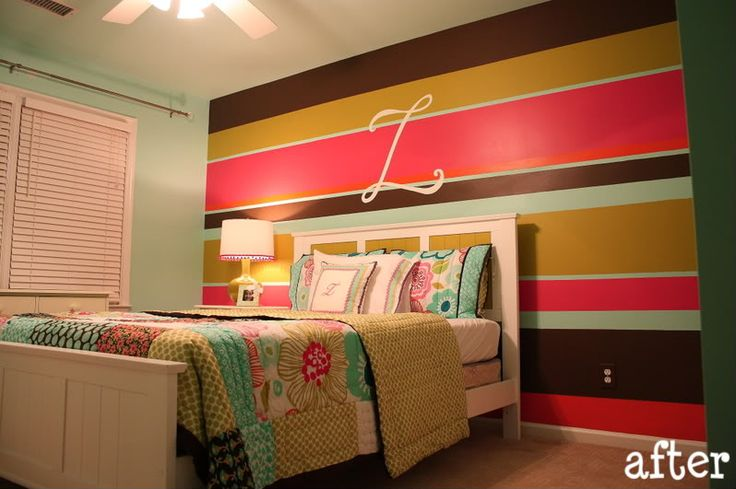 Striped accent wall future home projects pinterest for Accent stripe wall