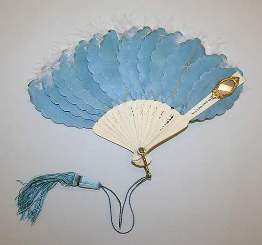 Fan 1855, French, Made of silk