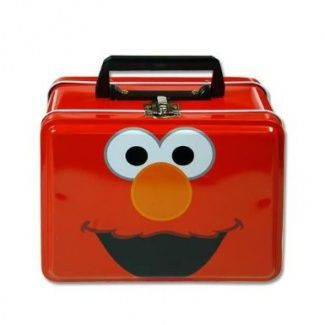 Lunch Box - Sesame Street - Elmo - Metal Tin Case w/ Plastic Handle & Clasp