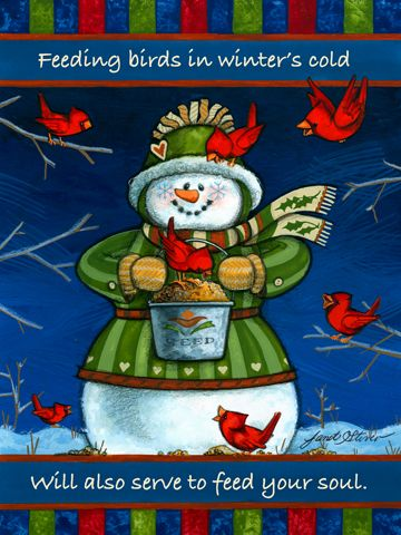 Winter is for the Birds: 'Seed Time' by Janet Stever