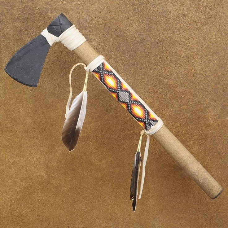 Plains Indian Beaded Ceremonial TOMAHAWK