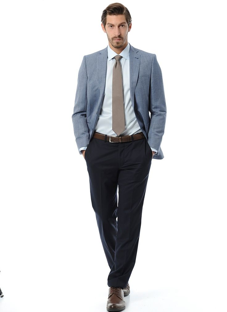 Темно-синие брюки с небольшой текстурой